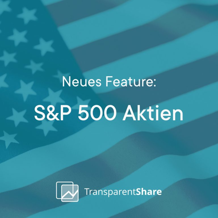 Neues Feature S&P 500
